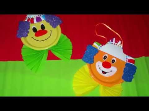 Pagliacci Di Carnevale Con Piatti Di Plastica Youtube
