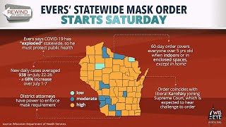 Wiseye morning minute: evers' statewide mask order