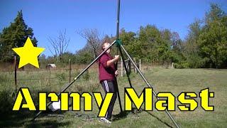 ham radio antenna mast setup review