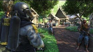 FarCry 3 - Privateers Attack Native Village - AI Battle