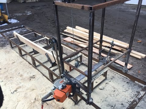 Homemade Chainsaw Mill