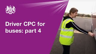 Driver CPC for buses: module 4 - practical demonstration test