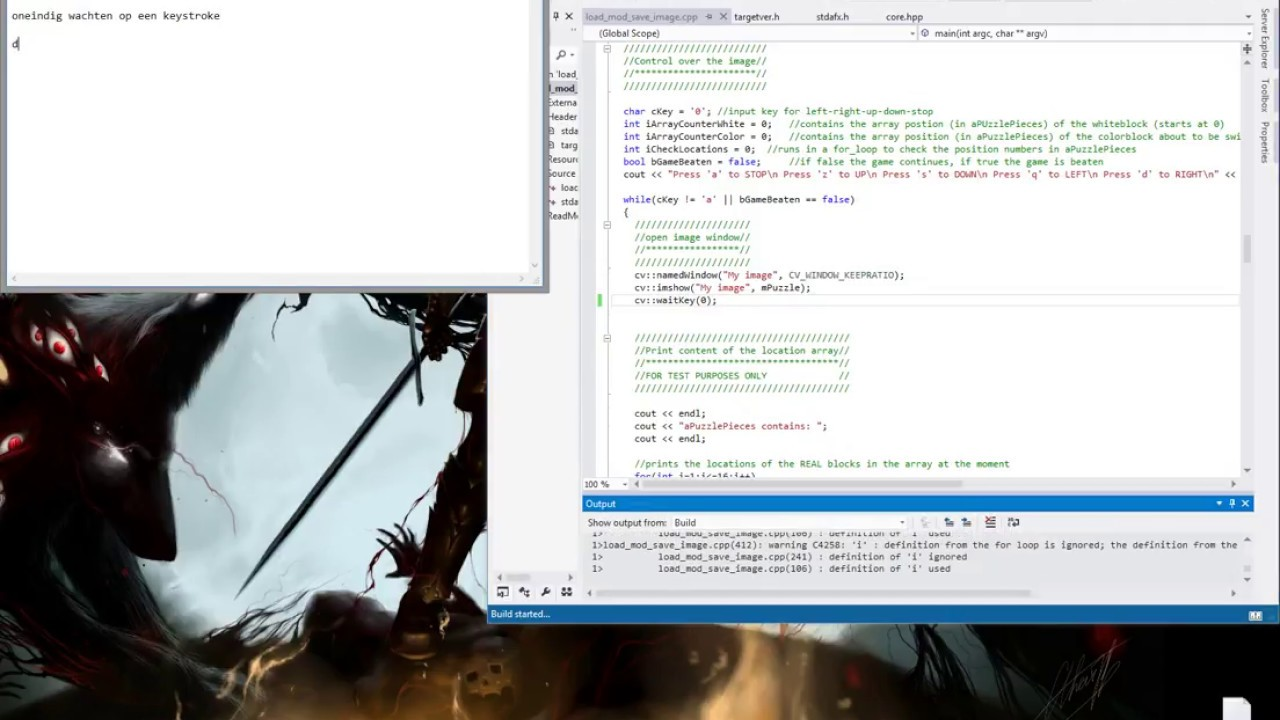 c++ and opencv _ problem with waitKey()