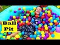 Playtime with DisneyCarToys Ava Outdoor Ball Pit!