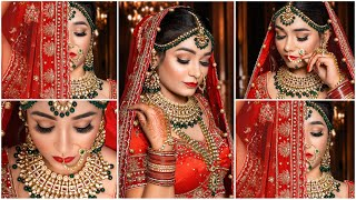 Bridal Makeup Tutorial || Indian Bridal Makeup || Red Bride || Easy Makeup tutorial