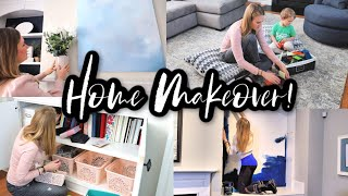 *NEW* FULL LIVING ROOM MAKEOVER! ? HOME TOUR W/@Do It On A Dime