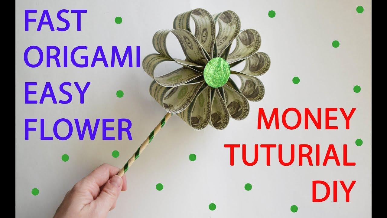 Easy money flower fast tutorial origami dollar diy youtube easy money flower fast tutorial origami dollar diy mightylinksfo Image collections