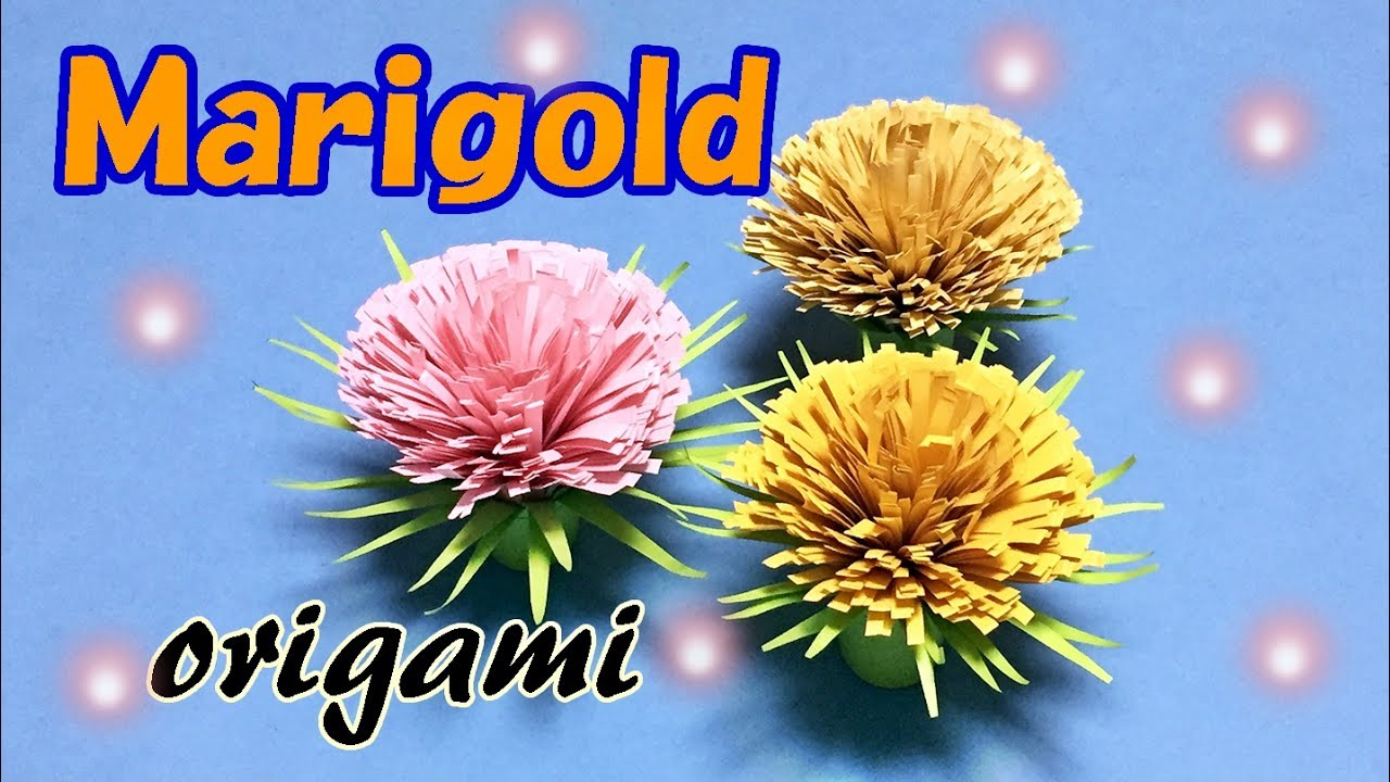 Origami flower easy tutorial for beginners marigold step by origami flower easy tutorial for beginners marigold step by step easy origami instructions dhlflorist Choice Image