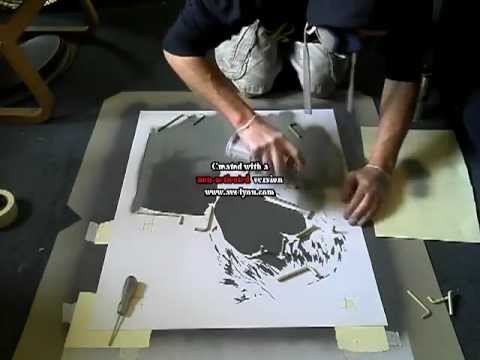 Composite Image Of Stencil Graffiti >> Graffiti Stencil Art Multi Layered Ian Brown Youtube