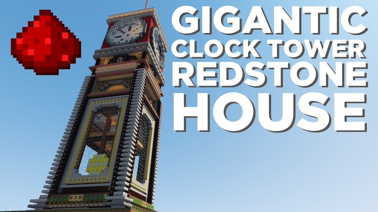 Minecraft Redstone Clock House World Download Youtube Project