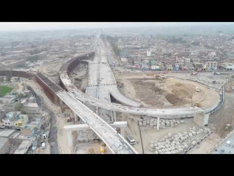 Pindi Bypass Aziz Chowk Gujranwala latest Pictures 22 Feb 17