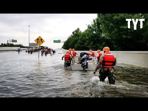Trump Pushes FEMA/Flood Protection Cuts As Harvey Rages