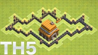 "Clash of Clans - ""NEW"" Town Hall 5 (TH5) Defense/Trophy/Hybrid Base"