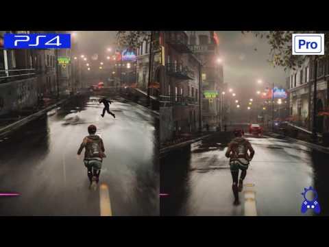Infamous First Light   PS4 VS PS4 PRO   GRAPHICS COMPARISON   Comparativa