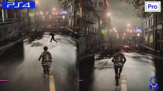Infamous First Light | PS4 VS PS4 PRO | GRAPHICS COMPARISON | Comparativa
