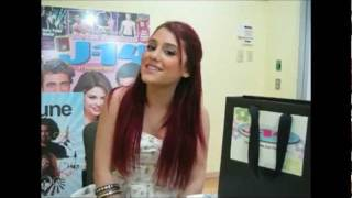 Ariana Grande singing One Time by Justin Bieber