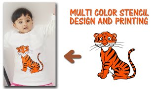 Cutart 4 : How to Print multi colored graphic t-shirt with stencils