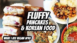 FLUFFY VEGAN PANCAKES + SAVEG Pt. 2 // What I Ate Vegan #93 | Mary