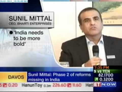 Shaili Chopra on Davos Direct With Sunil Mittal WEF 2011.flv