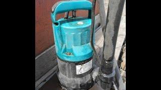 видео Дренажный насос для полива огорода на даче, из бочки