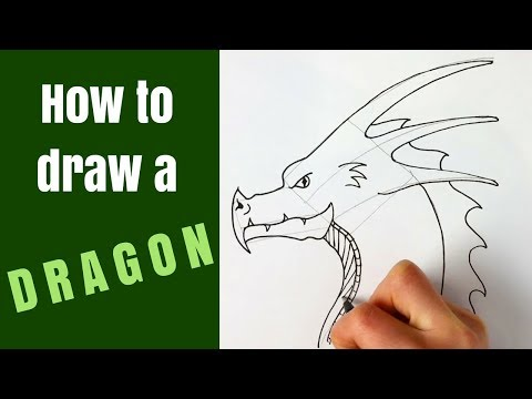 How to draw a dragon head for beginners