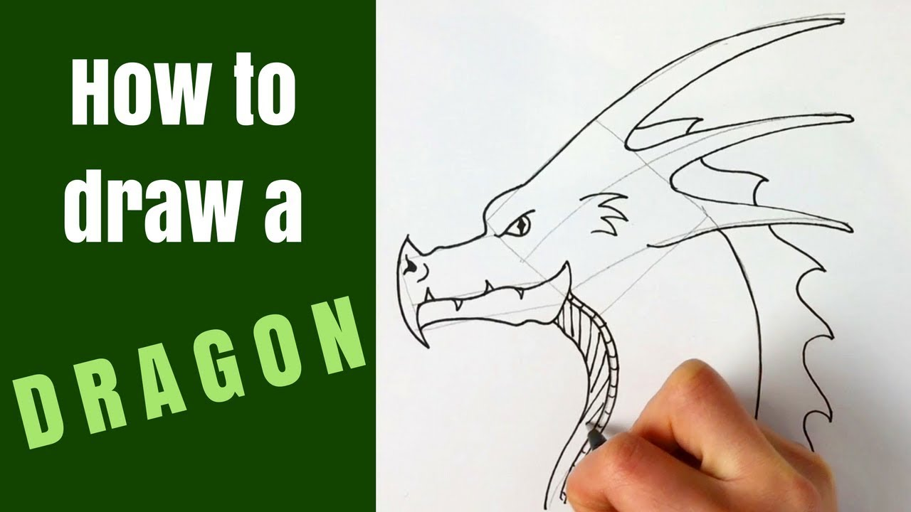 How To Draw A Dragon Head For Beginners Youtube