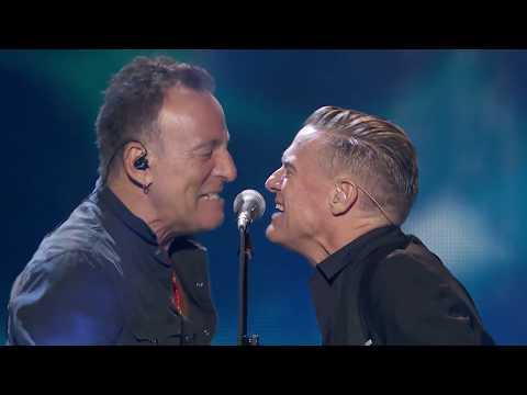 "Bryan Adams & Bruce Springsteen performing ""Cut's A Knife & ""Badlands"""
