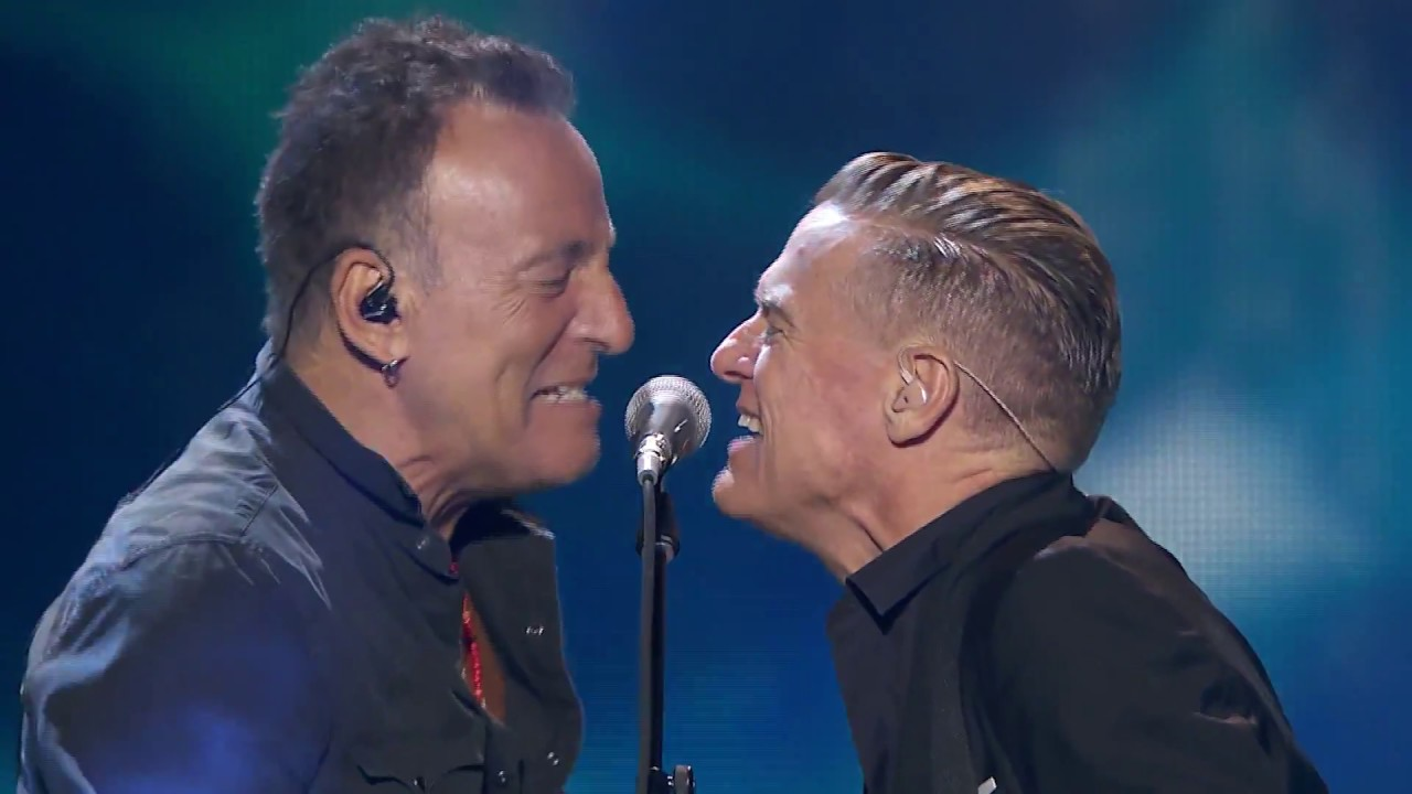 Bryan Adams  Bruce Springsteen performing Cuts A Knife