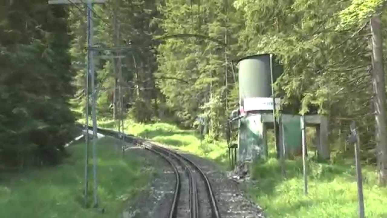 Auu >> Fahrt mit der Zahnradbahn auf die Zugspitze: Fahrt auf der Zahnschiene bis Bedarfshalt Riffelriß ...