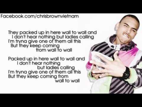 Chris Brown - Wall To Wall [Lyrics Video]