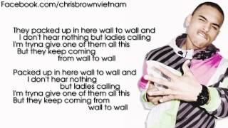 Chris Brown - Wall To Wall [Lyrics Video]