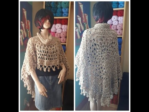 Crochet circular poncho for begginers