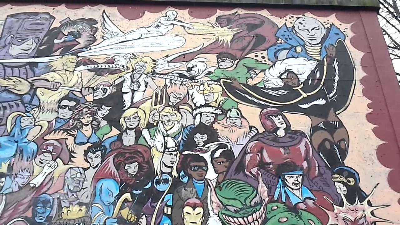 marvel wall mural downtown oly youtube marvel wall mural downtown oly