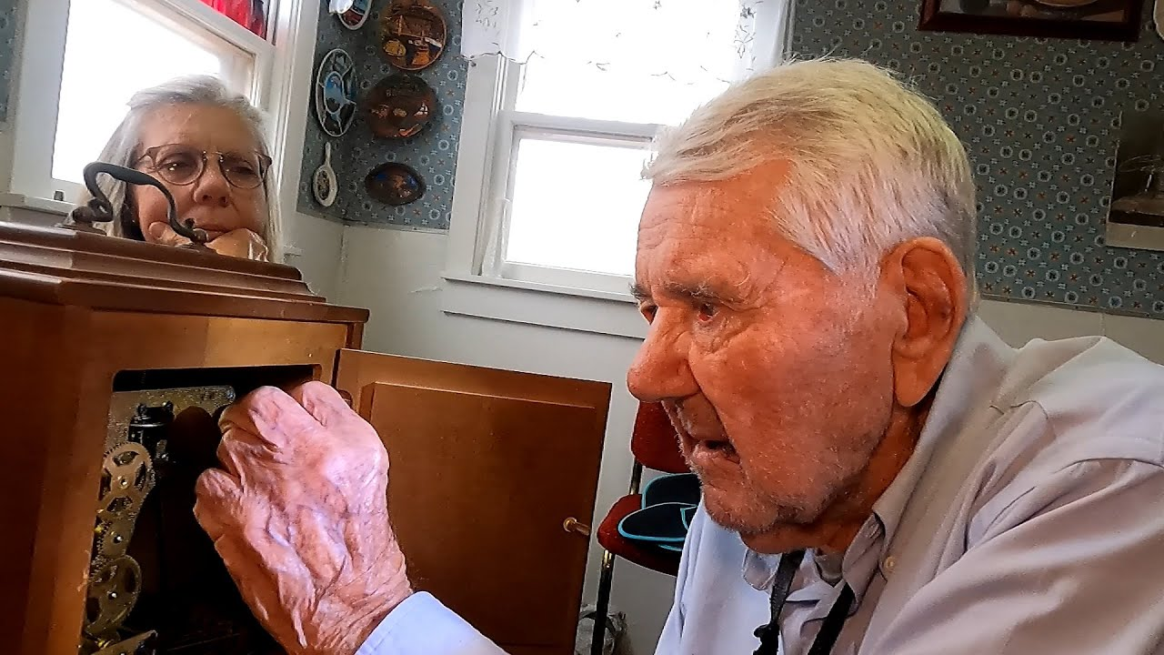 """101 Year-Old Fixes Vintage Clock - """"It did my heart good to watch"""""""