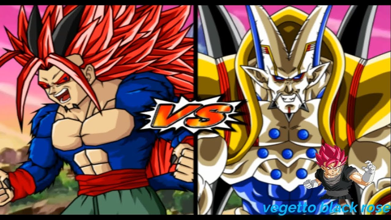 Omega Shenron Vs Kid Buu ZAIKO SSJ10 VS ...