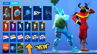 *NEW* Leaked Fortnite Skins & Emotes..! (Take The Elf, Cheerleading Emote,Christmas Raven...)