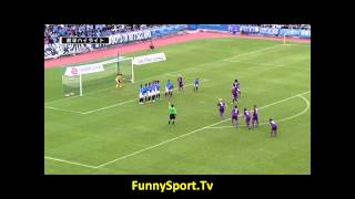 Funny Sport Videos - Craziest Free-kick Routine Ever - Kyoto Sanga in J League 2