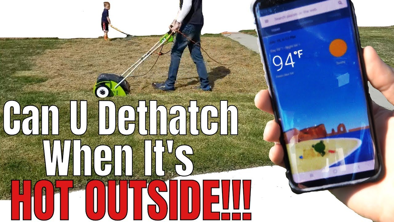 Can you Dethatch or Power Rake when it's hot outside?
