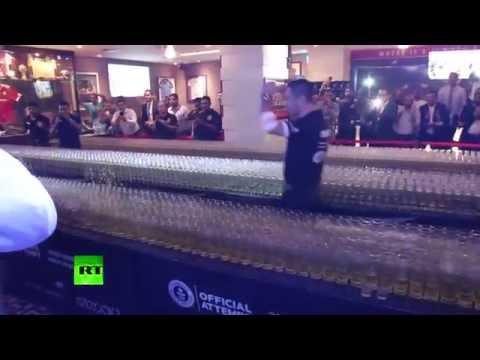 Dubai Domino Drop shot: Watch world record broken in UAE bar