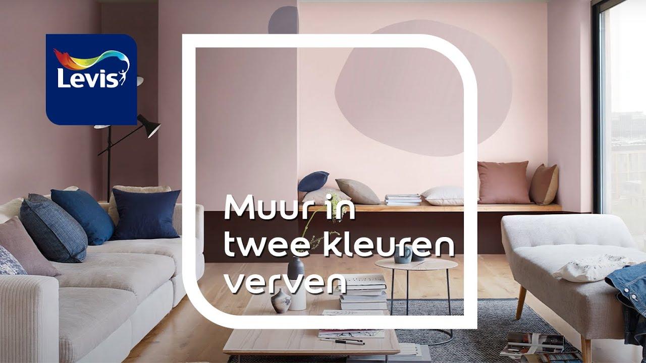 Een muur in twee kleuren verven in zes eenvoudige stappen