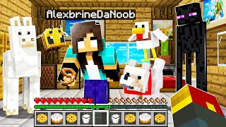 noob Girl gets STRANGEST Pet in Minecraft