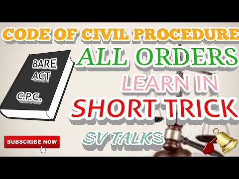 #Trending #CPC #Order #Shorttricks    C.P.C. ALL ORDERS LEARN IN SIMPLE SHORT TRICK
