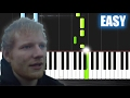 Ed Sheeran - Castle On The Hill - EASY Piano Tutorial by PlutaX
