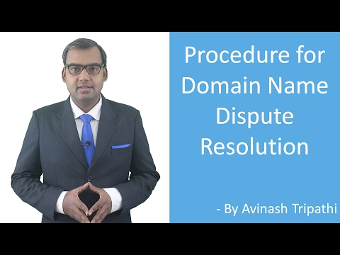 Lesture on Domain Name Dispute Resolution - Procedure