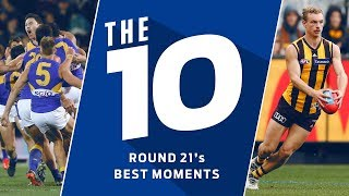 The 10: Best moments from Round 21 | 2018 | AFL