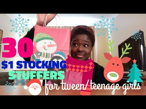 30 $1 DOLLAR Stocking Stuffers | For Tween/Teenage Girls | Holidays 2016
