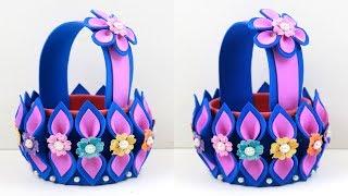 Best out of EMPTY WASTEWATER bottle craft - Make Plastic Bottle & Foam Basket in Easy Way - Diy Idea