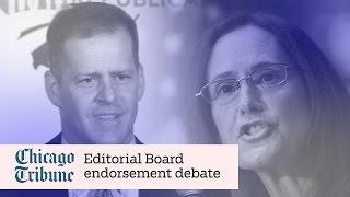 Madigan, Schimpf Tribune Editorial Board endorsement debate