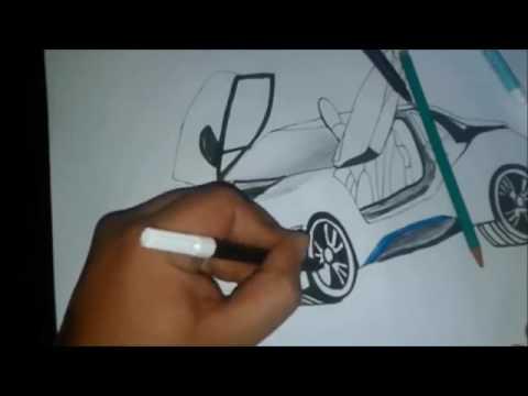 Desenhando Bmw I8 M O Livre Sem Rascunho Draw Bmw Como Desenhar