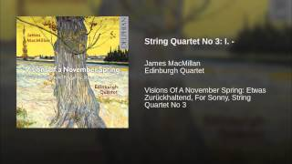 String Quartet No 3: I. -
